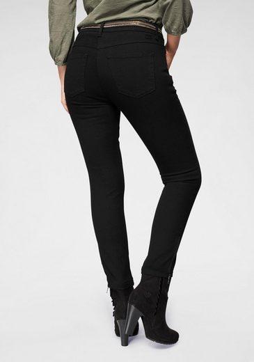 MAC Ankle-Jeans »Slim Chic« Neue Form mit Reißverschluss am Saum