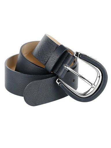 Mona Ledergürtel mit überzogenem Leder an Schließe