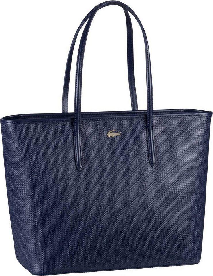 Damen Lacoste  Handtasche Zip Shopping Bag 2335 blau | 03614038635812