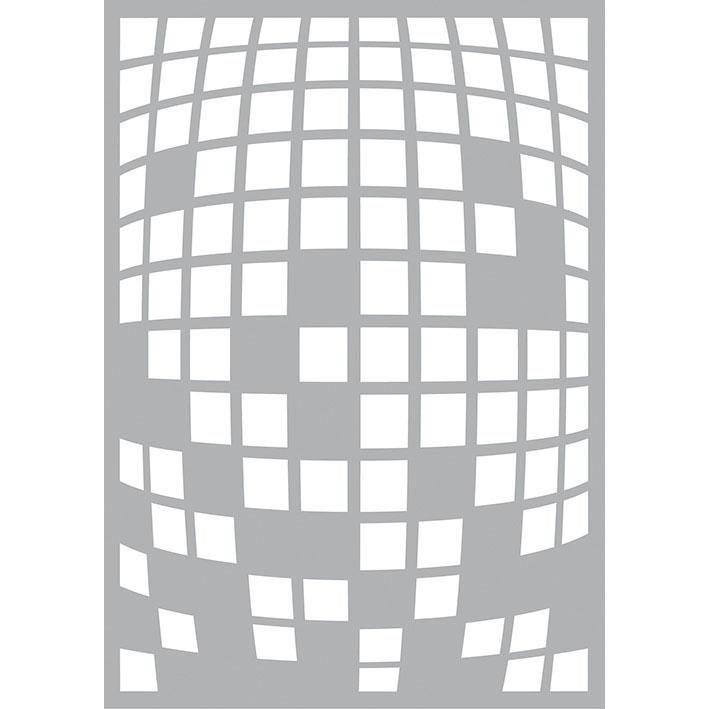 "Schablone ""Square Explosion"" DIN A5 Format Motivschablone online kaufen"