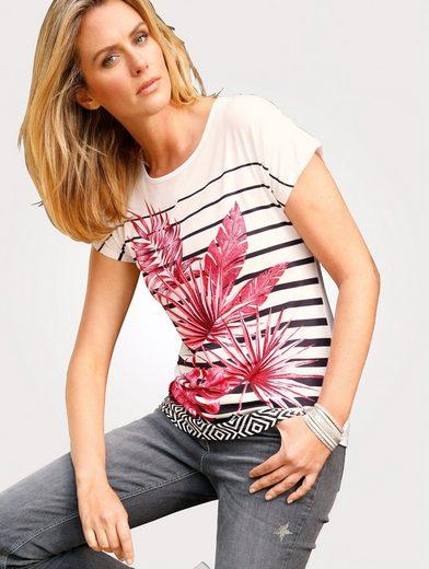 Mona Shirt mit Palmenprint