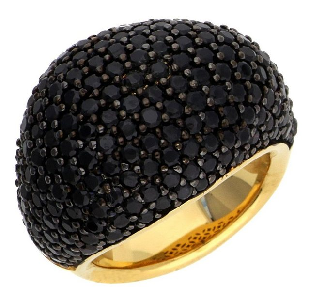 Damen Esprit Fingerring Glamour ESRG02034D schwarz | 04891945219819