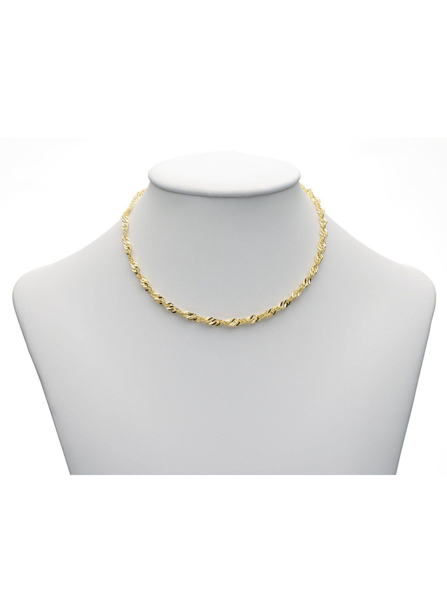 Adelia´s Goldkette »Gold Halsketten« 8 k 333 Gelbgold Singapur Kette 3,4 mm