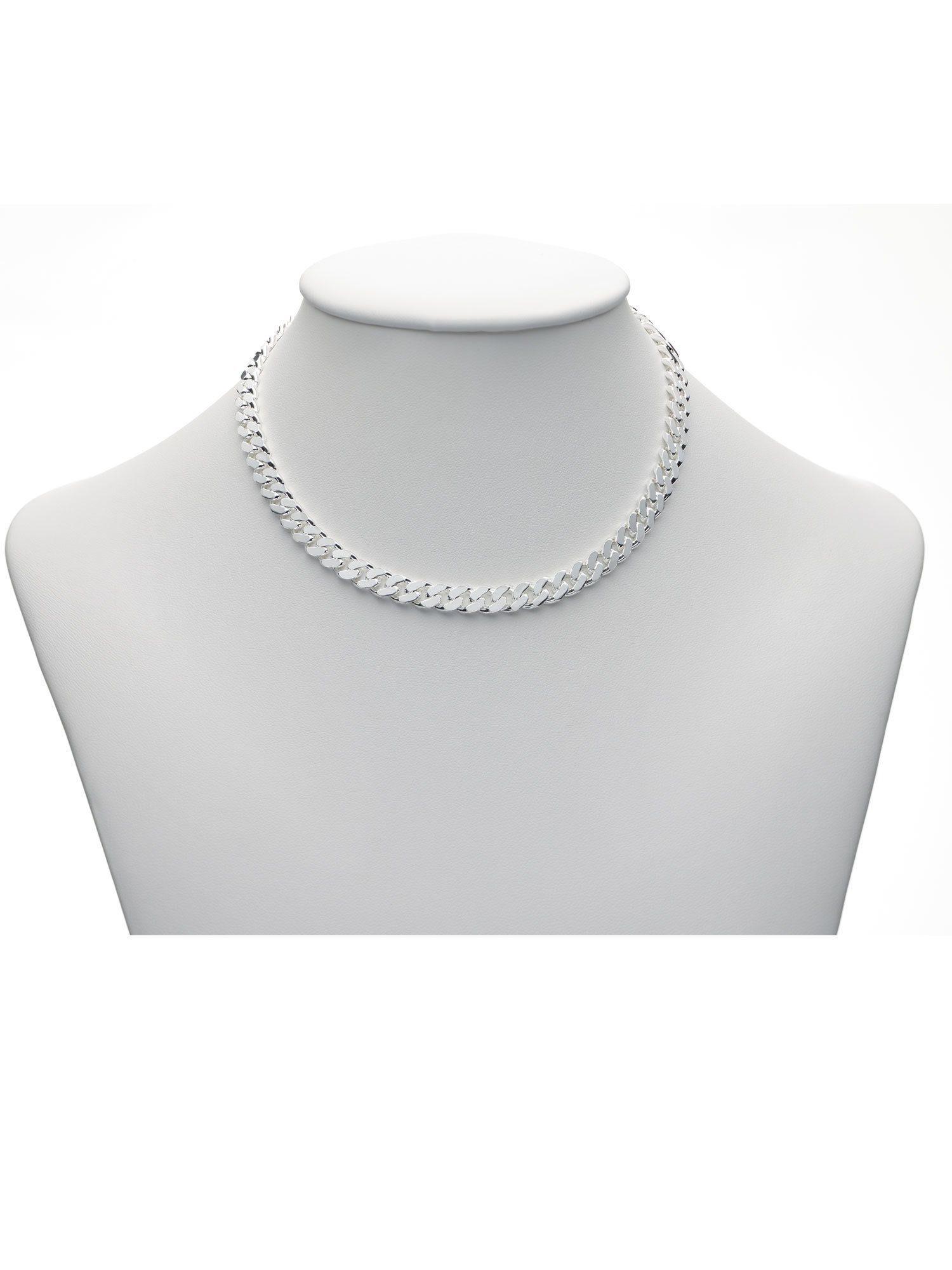 Adelia´s Silberkette »Silber 925 Sterling Silver Halskette - Collier« 925 Sterling Silber Flach Panzerkette