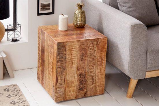 riess-ambiente Beistelltisch »FACTORY 40cm natur«, aus Massivholz