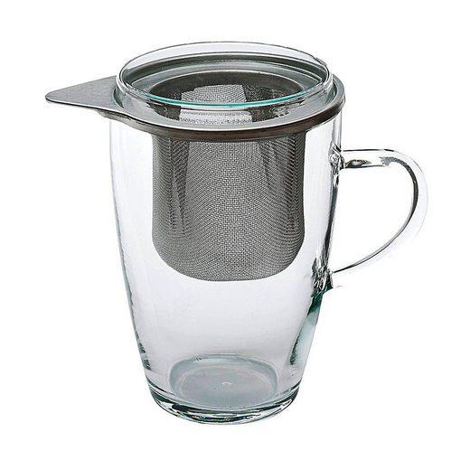 "BOHEMIA SELECTION Teeglas »Simax Teeglas ""Lyra"" mit Siebeinsatz und Deckel«"