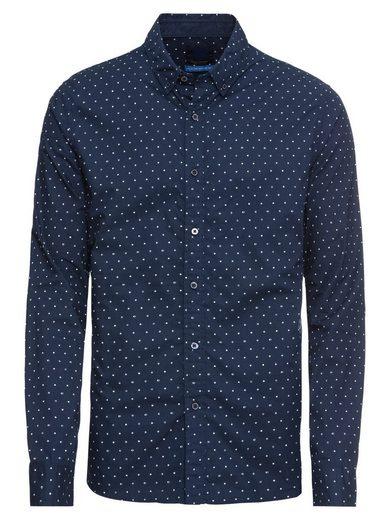 Scotch & Soda Langarmhemd »Ams Blauw slim fit simple lightweight printed shirt«