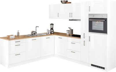 HELD MÖBEL Winkelküche »Tinnum«, mit E-Geräten, Stellbreite 240/270 cm
