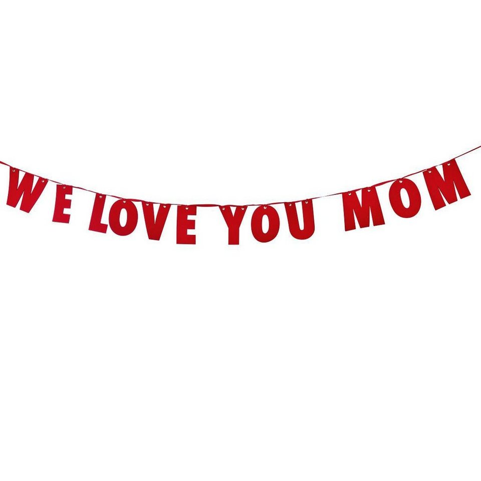 "BUTLERS MOM IS WOW  Girlande Filz ""We love you Mom""  online kaufen"