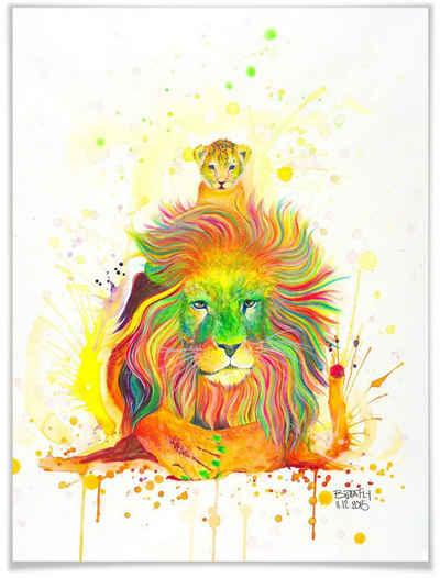 Wall-Art Poster »A Kings Pride«, Schriftzug (1 Stück), Poster, Wandbild, Bild, Wandposter