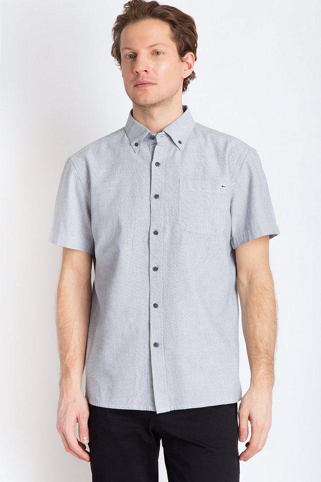 Finn Flare Kurzarmhemd mit Kentkragen | Bekleidung > Hemden > Sonstige Hemden | Blau | Baumwolle | Finn Flare