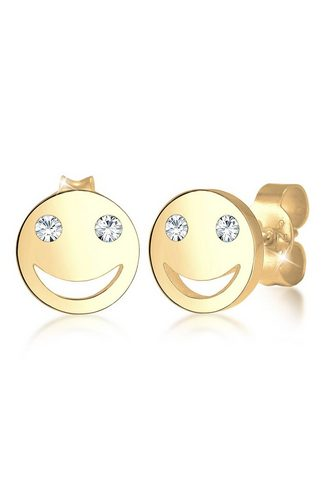 ELLI Pora auskarai »Smiley Face Emoji Swaro...