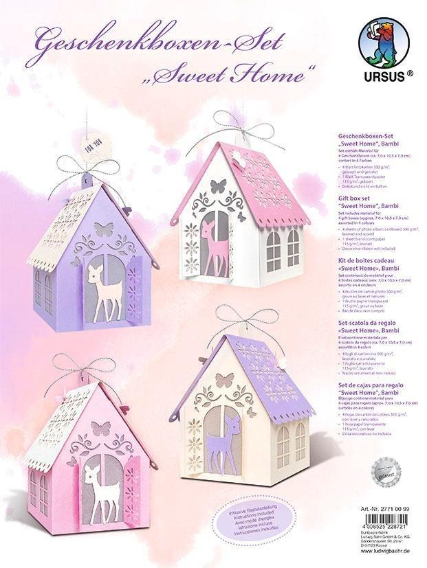"""URSUS Geschenkboxen-Set """"Sweet Home"""" für 4 Boxen"""