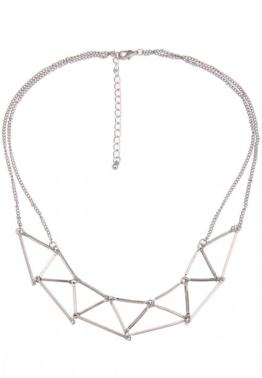 Leslii Halskette mit feinen Dreiecken