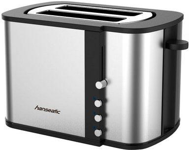 hanseatic toaster mit br tchenaufsatz 2 kurze schlitze f r 2 scheiben 870 w online kaufen otto. Black Bedroom Furniture Sets. Home Design Ideas