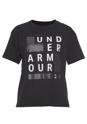 Logo Square Armour® Crew« Girlfriend Under Schwarz Funktionsshirt »graphic CorQxEdBeW