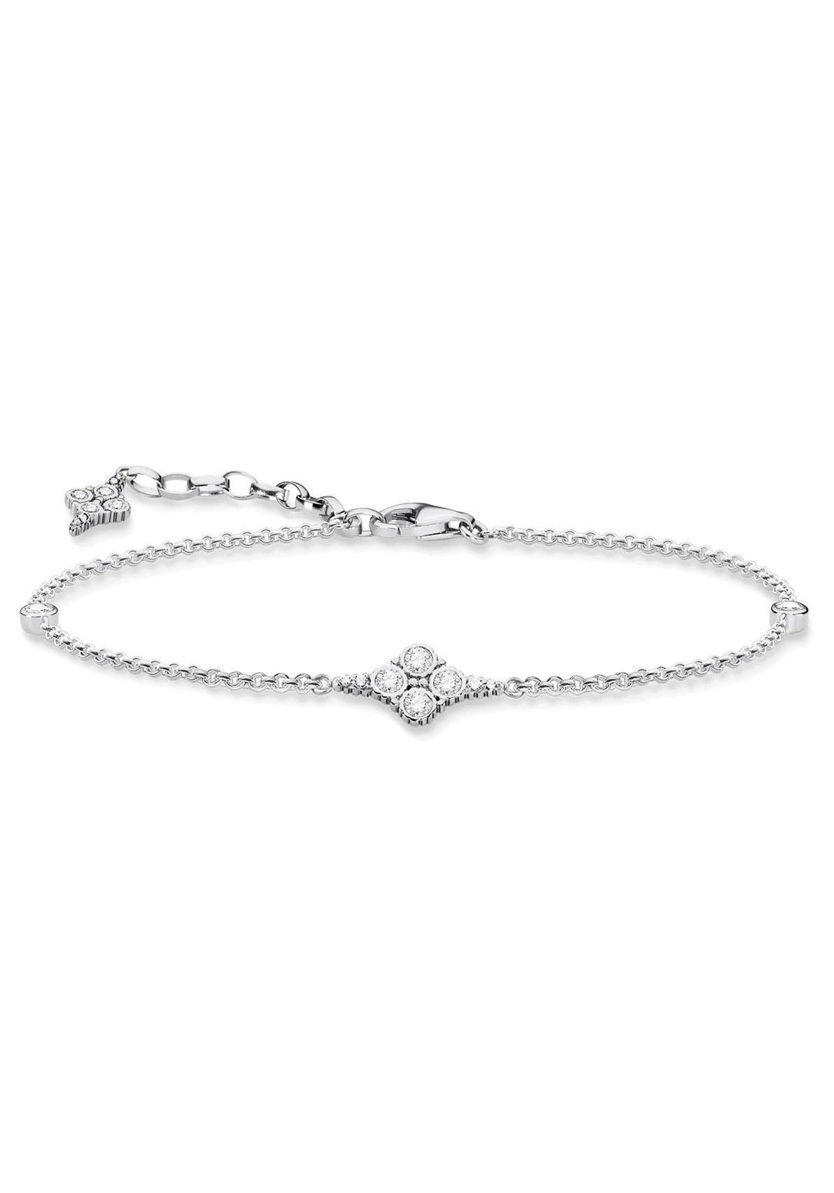 THOMAS SABO Silberarmband »A1824-643-14-L19v, Royalty weiß« mit Zirkonia