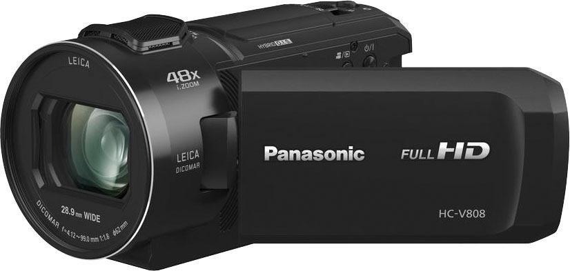 Camcorder - Lumix Panasonic »HC V808EG K« Camcorder (Full HD, WLAN (Wi Fi), 24x opt. Zoom)  - Onlineshop OTTO