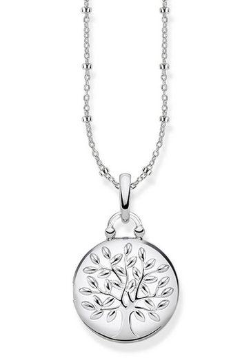 THOMAS SABO Kette mit Anhänger »KE1831-001-21-L45v, Medaillon Tree of Love silber rund«