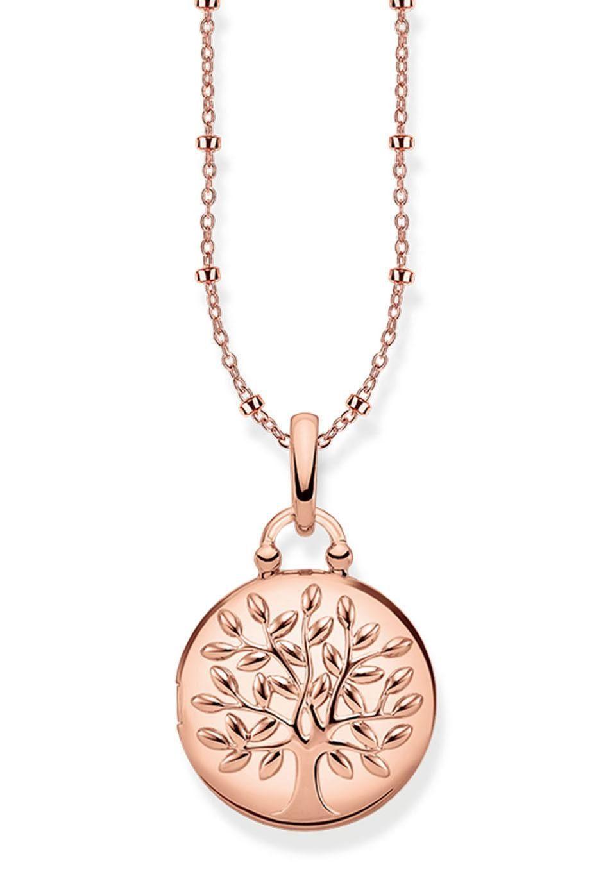 THOMAS SABO Kette mit Anhänger »KE1831-415-40-L45v, Medaillon Tree of Love rosé rund«