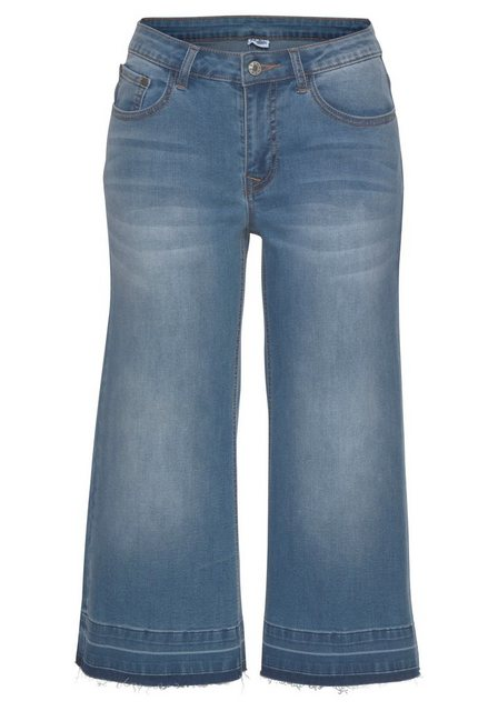 Hosen - Buffalo Culotte Jeans mit ausgefransten Abschlüssen ›  - Onlineshop OTTO