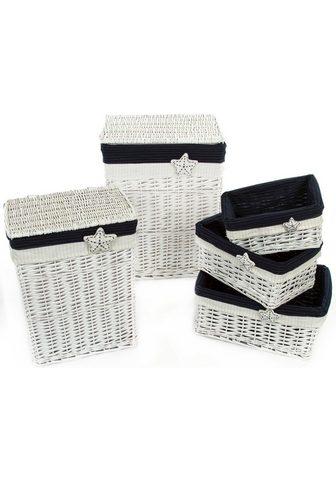 HOME AFFAIRE Skalbinių krepšys (Rinkinys 5 vienetai...