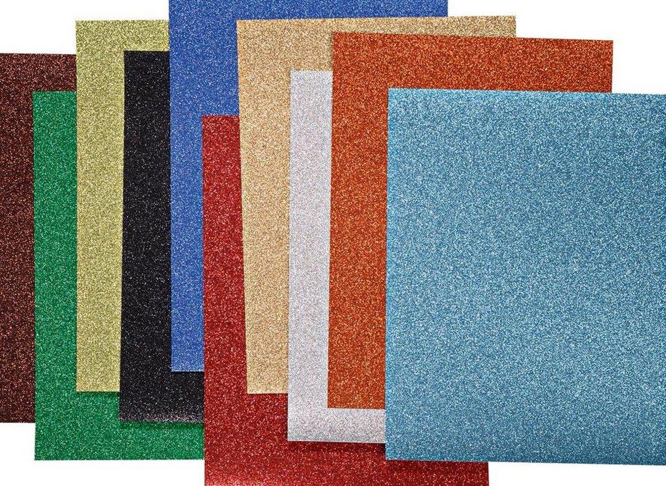 """Bastelpapier """"Glitterkarton bunt"""" 10 Blatt kaufen"""