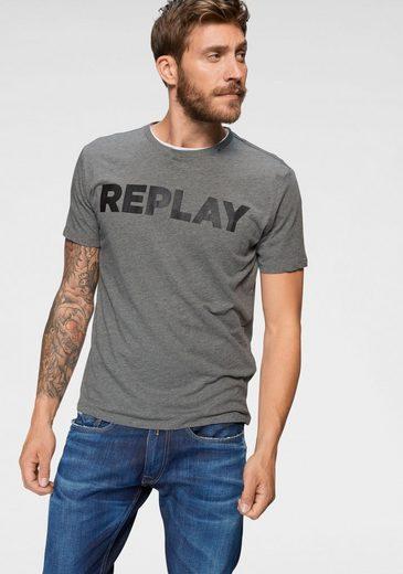 Replay T-Shirt Markenfrontprint