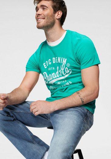 edc by Esprit Rundhalsshirt mit Frontprint