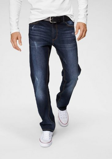 John Devin Straight-Jeans mit Elasthan