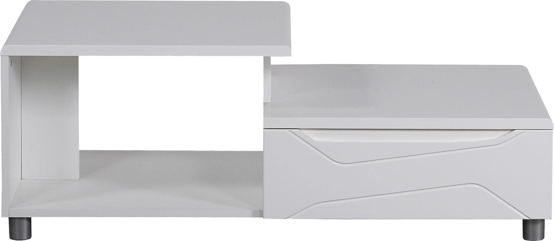 INOSIGN Couchtisch »New Port«, mit schönem Design auf der Schubladenfront, Breite 110 cm