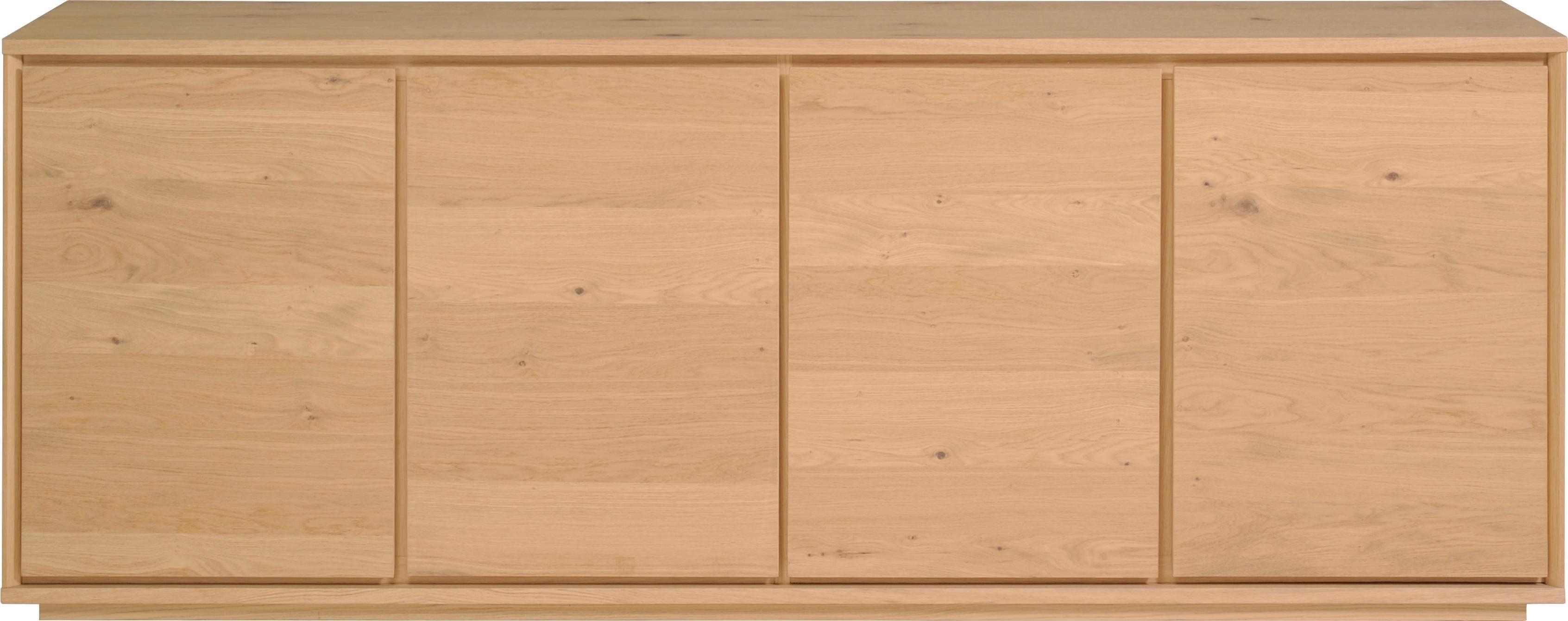 Home affaire Sideboard »Stockholm« 4-türig, mit schönem Fußuntergestell, Breite 217 cm