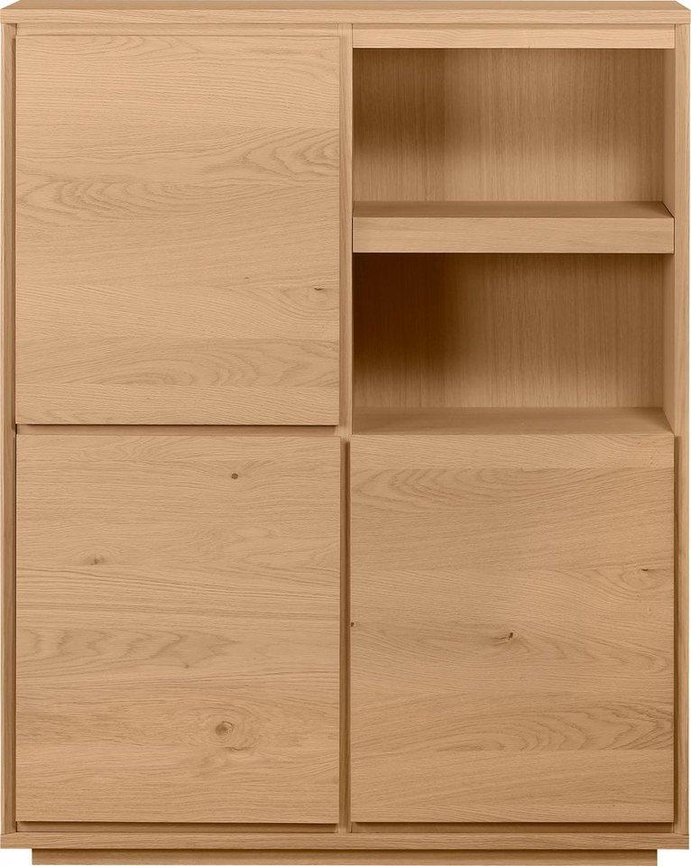 home affaire highboard stockholm mit echtholzfurnier und vielen f chern breite 110 cm online. Black Bedroom Furniture Sets. Home Design Ideas