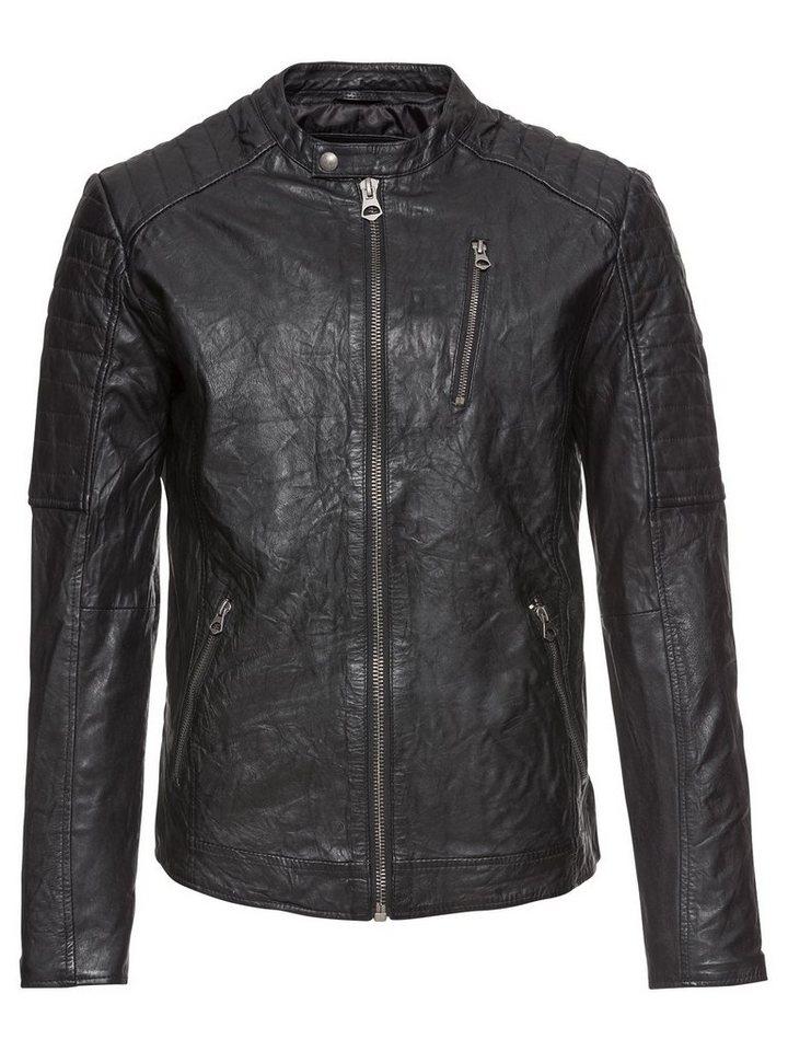 jack jones lederjacke jjvrichard lamb leather jacket. Black Bedroom Furniture Sets. Home Design Ideas
