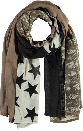 Passigatti Schal mit abstraktem Muster und Satinband