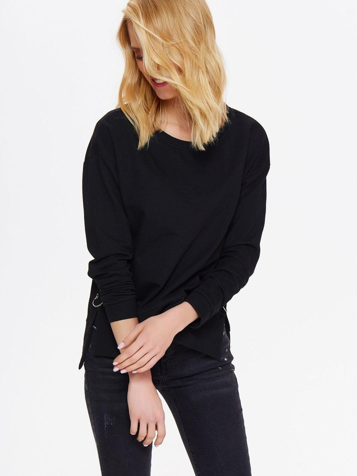 TOP SECRET Sweatshirt mit coolem Ösen-Detail