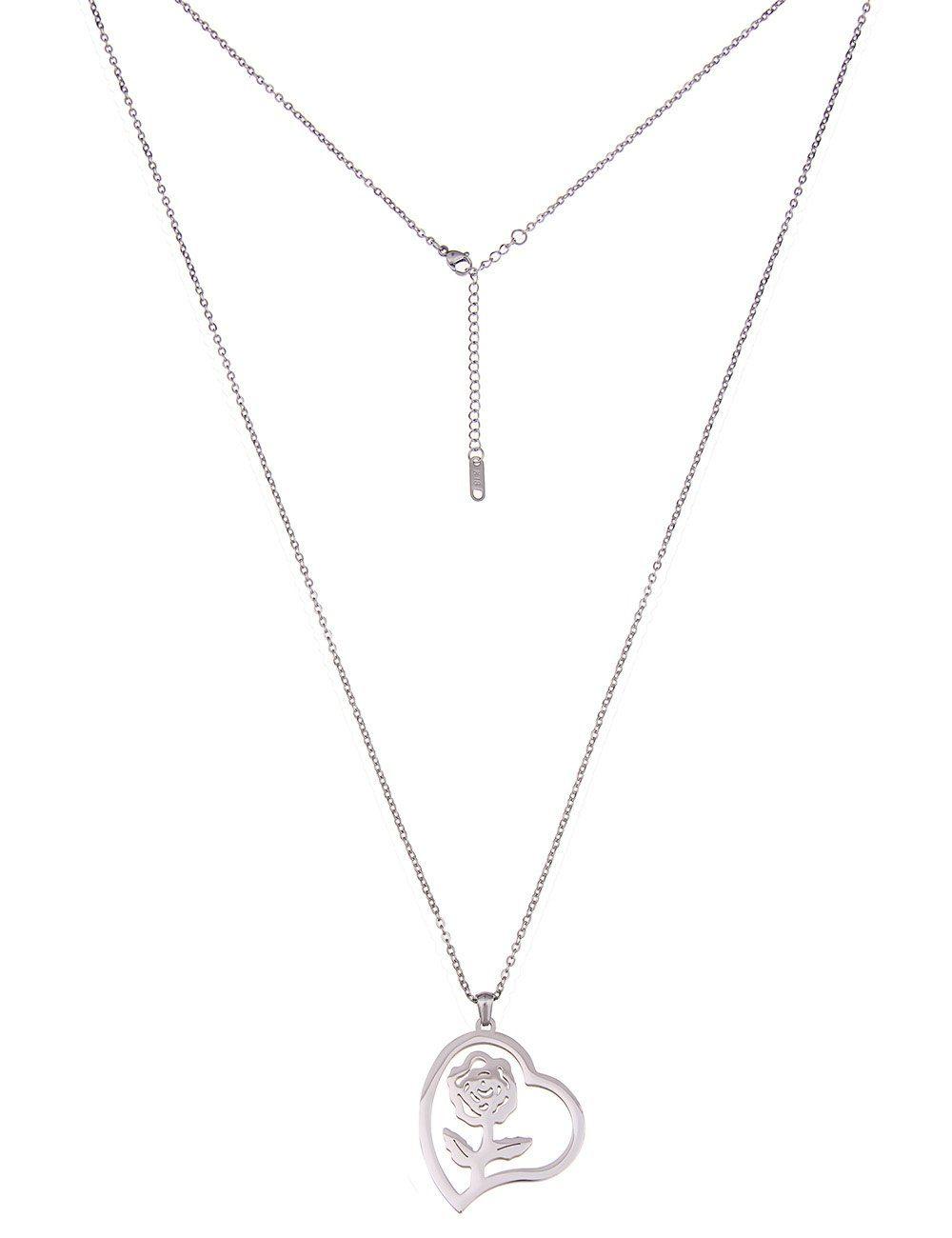 Leslii Halskette mit Rosen-Herz-Anhänger