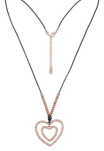 Leslii Halskette mit zwei Herzen