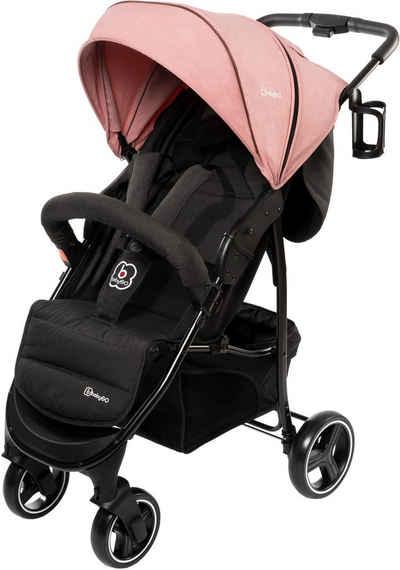 BabyGo Sport-Kinderwagen »Basket, Pink melange«, Buggy