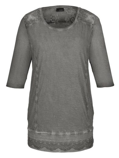 MIAMODA Longshirt mit aufwendiger Spitzenverarbeitung