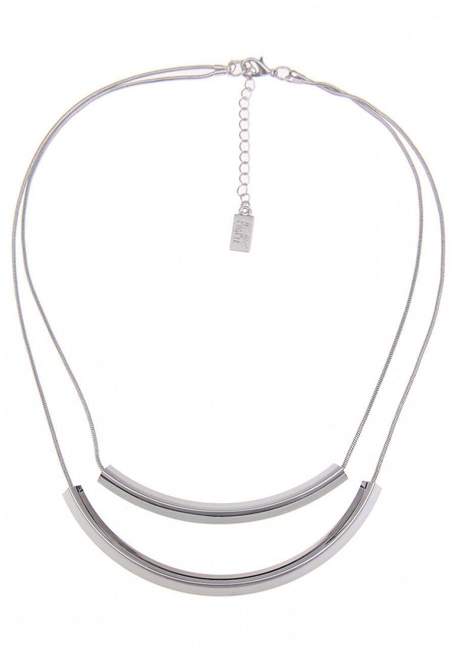 Leslii Halskette mit gebogenen Metallröhrchen
