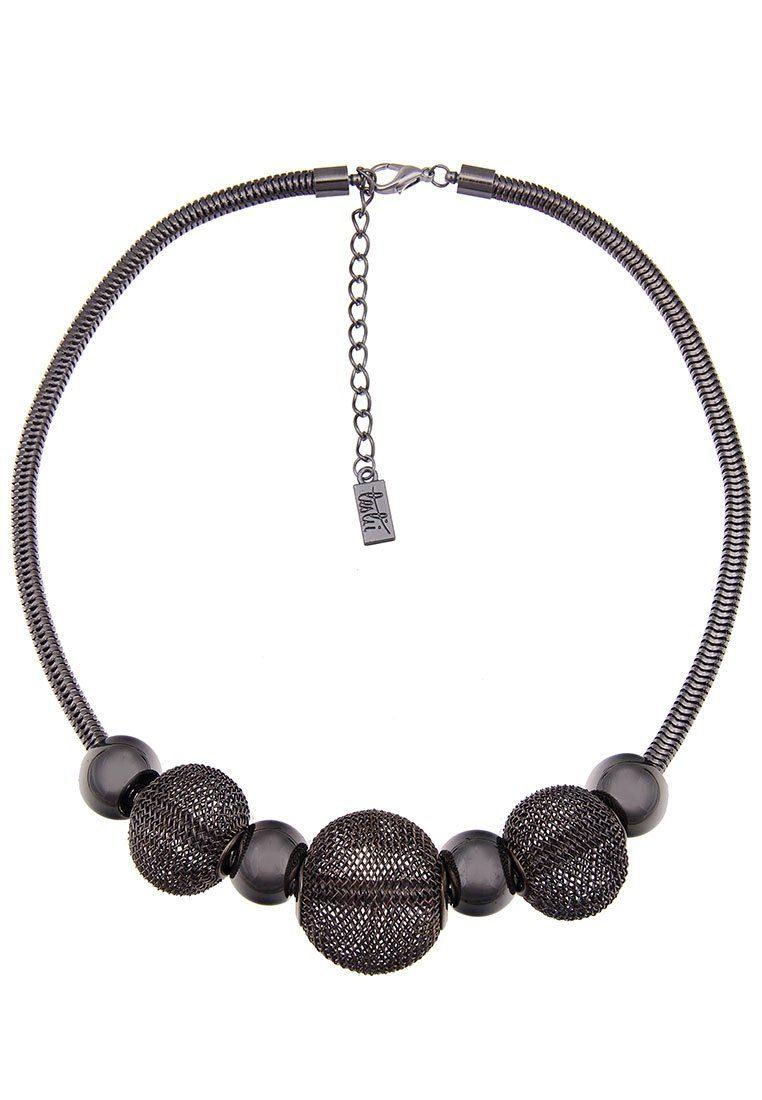 Leslii Halskette mit Kugeln in Netz-Optik