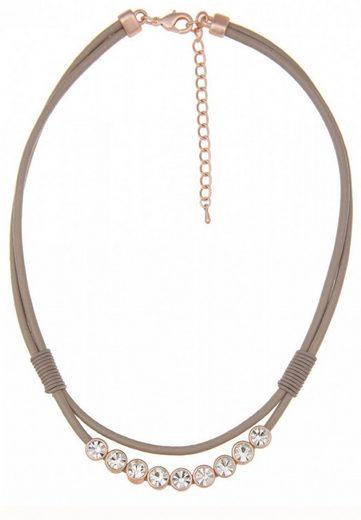 leslii Halskette im Glitzer-Lederlook