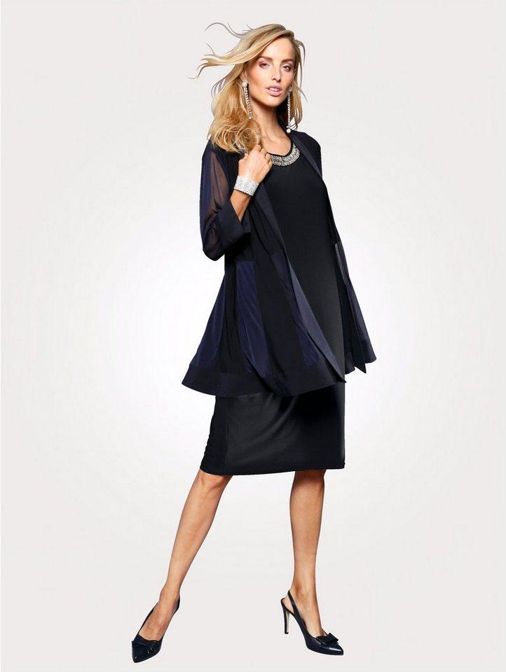 Damen Mona  Zweiteiler bestehend aus Jerseyjacke und Kleid blau | 04055717275209