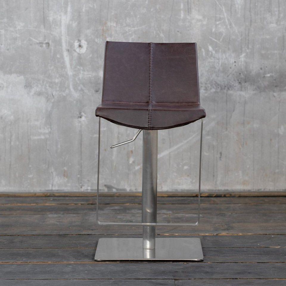 Kasper Wohndesign Hocker: KAWOLA Barhocker Kunstleder Höhenverstellbar Versch