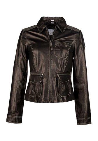 Куртка кожаная с два Innentaschen &raq...