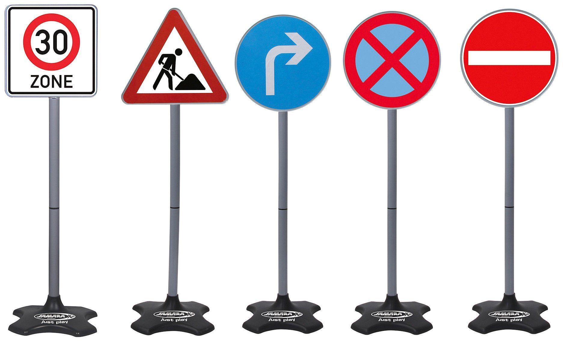 JAMARA Verkehrsschilder »Traffic-Set Grand B«, 5 verschiedene im Set