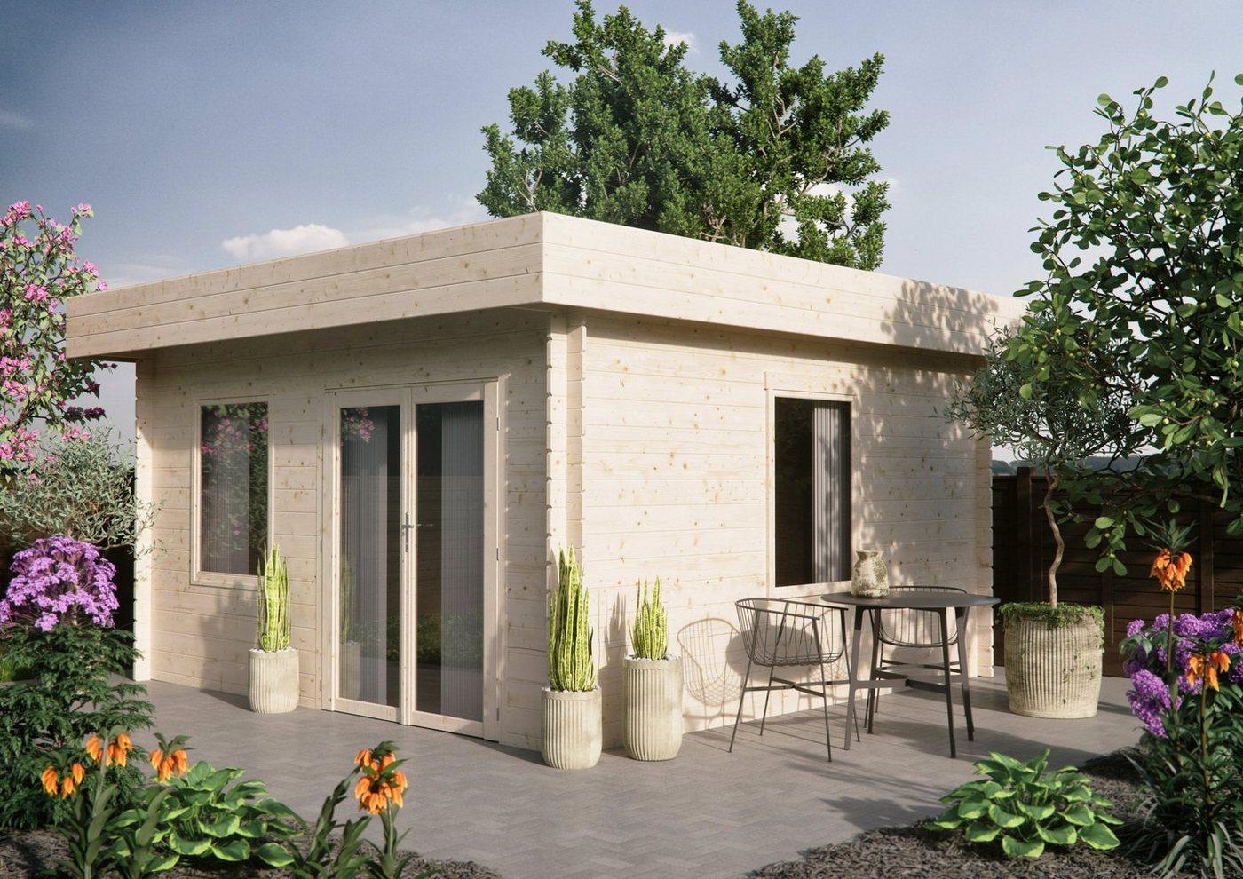 Luoman Gartenhaus »Lillevilla 523«, BxT: 454x469 cm, inkl. Fußboden