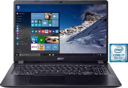 Acer A515-52G-70QM Notebook (39,62 cm/15,6 Zoll, Intel Core i7, 1000 GB HDD, 128 GB SSD)