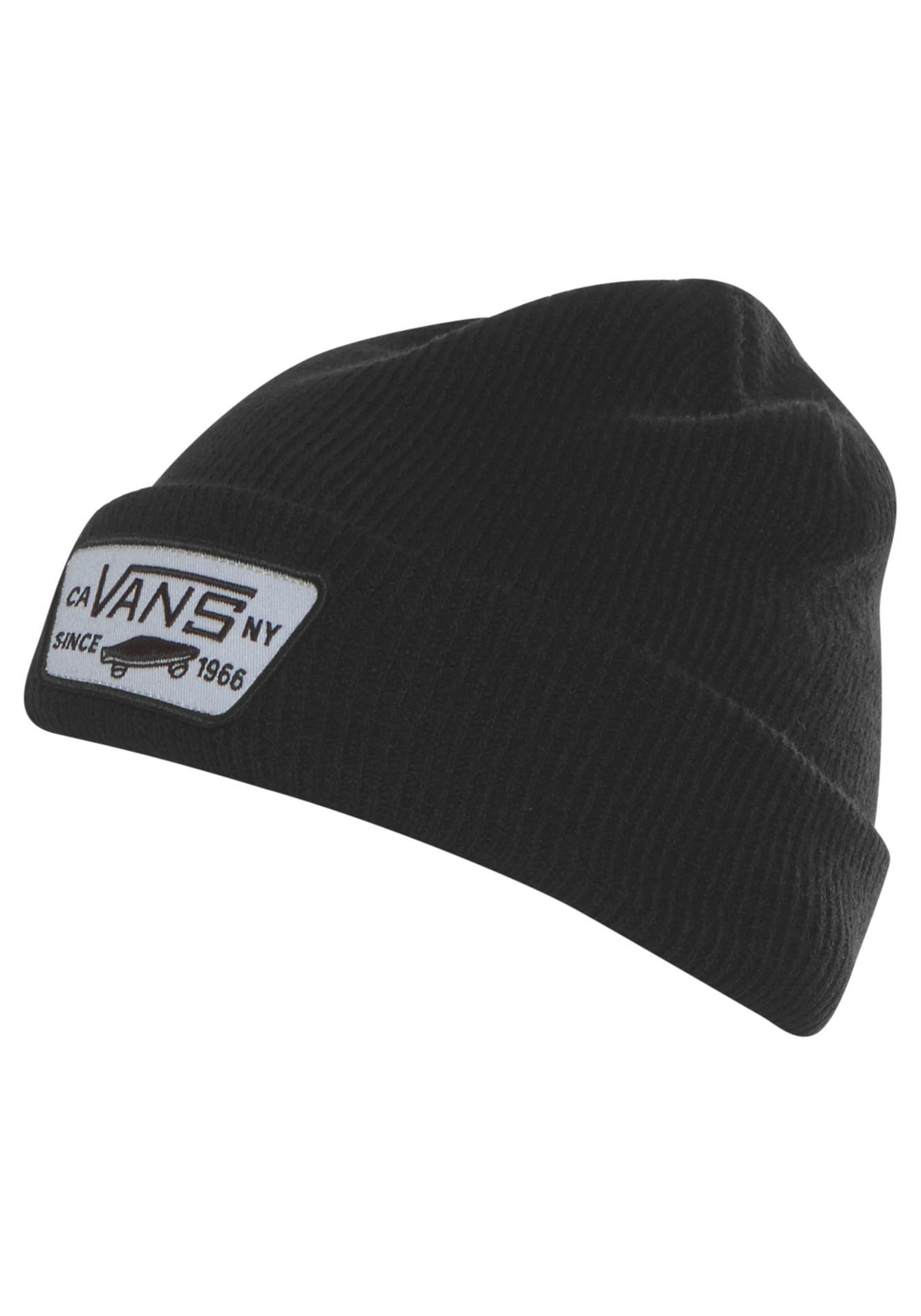 Vans Beanie »MILFORD BEANIE BLACK« Weicher Rippstrick